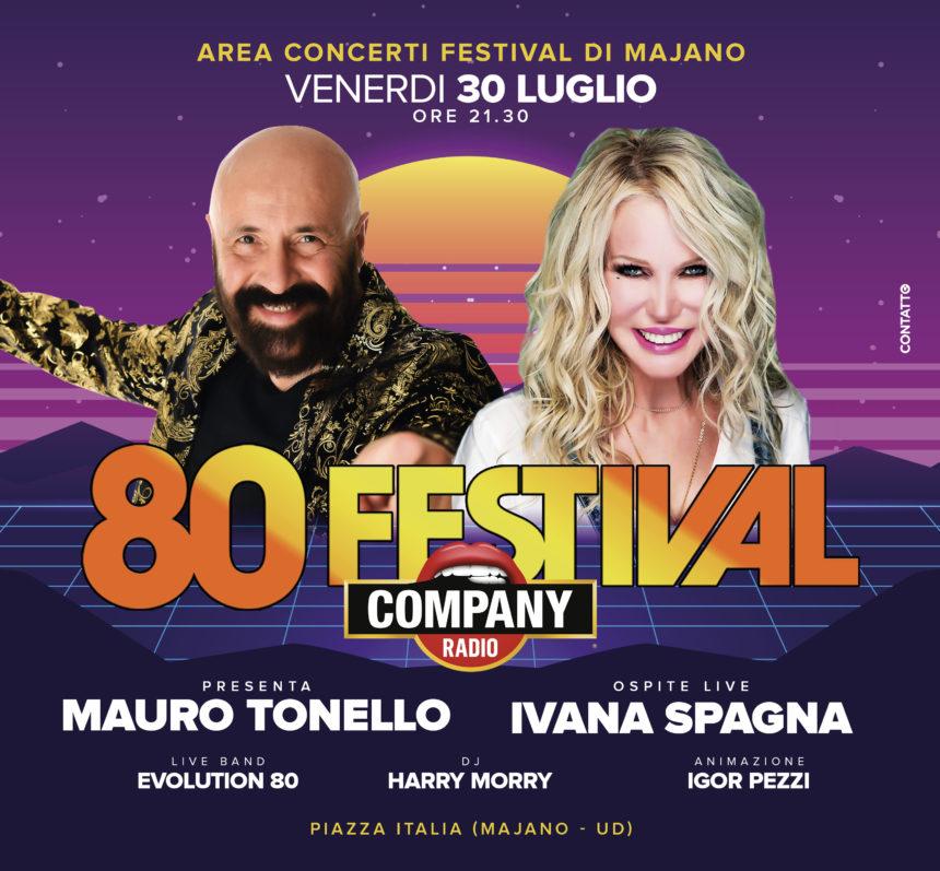 TORNA A MAJANO 80 FESTIVAL, OSPITE SPECIALE L'ICONA IVANA SPAGNA